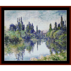 Morning on the Seine VIII -  Monet cross stitch pattern by Cross Stitch Collectibles | Crafting | Cross-Stitch | Wall Hangings