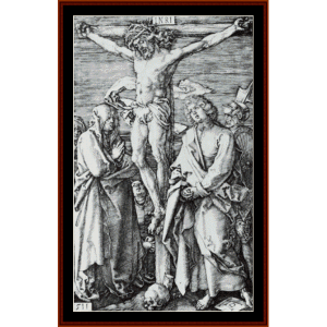 Crucifixion, 1511 - Durer cross stitch pattern by Cross Stitch Collectibles | Crafting | Cross-Stitch | Wall Hangings