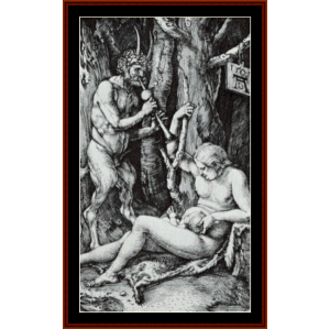 satyr family, 1505 - durer cross stitch pattern by cross stitch collectibles