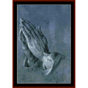 praying hands - durer cross stitch pattern by cross stitch collectibles