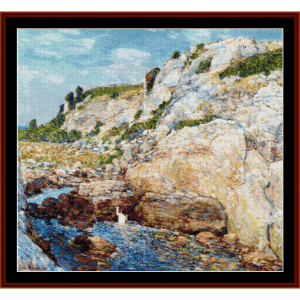 gorge at appledore - childe-hassam cross stitch pattern by cross stitch collectibles