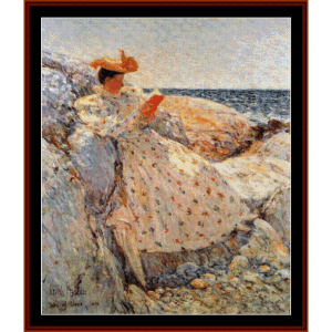 Summer Sunlight - Childe-Hassam cross stitch pattern by Cross Stitch Collectibles | Crafting | Cross-Stitch | Wall Hangings
