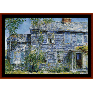 old mumford house - childe-hassam cross stitch pattern by cross stitch collectibles