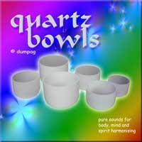 quartz bowls crystal sounds
