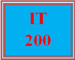 IT 200 Entire Course | eBooks | Education