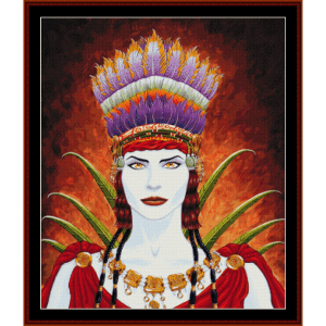 nasca woman - fantasy cross stitch pattern by cross stitch collectibles