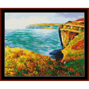 Cliff at Varengeville - Monet cross stitch pattern by Cross Stitch Collectibles | Crafting | Cross-Stitch | Wall Hangings