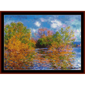 the seine near giverny - monet cross stitch pattern by cross stitch collectibles