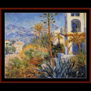 Villas at Bordighera - Monet cross stitch pattern by Cross Stitch Collectibles   Crafting   Cross-Stitch   Wall Hangings
