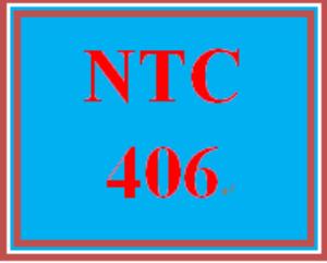 ntc 406 entire course
