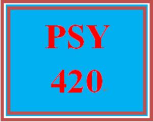 PSY 420 Week 1 Learning Team Charter | eBooks | Education