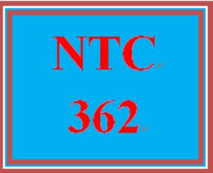 ntc 362 week 1 individual: networking