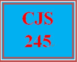 CJS 245 Entire Course | eBooks | Education