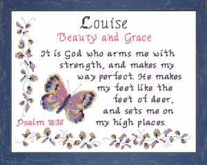 Name Blessings - Louise | Crafting | Cross-Stitch | Other