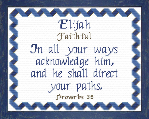 Name Blessings - Elijah 3 | Crafting | Cross-Stitch | Religious