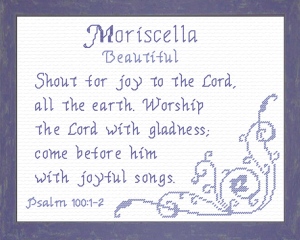 Name Blessings - Moriscella | Crafting | Cross-Stitch | Religious