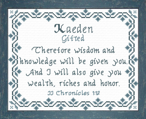 Name Blessings - Kaeden | Crafting | Cross-Stitch | Religious