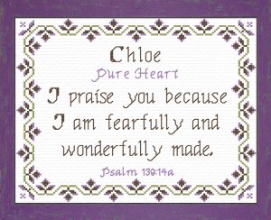 Name Blessings - Chloe 3 | Crafting | Cross-Stitch | Other