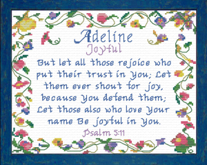 Name Blessings - Adeline | Crafting | Cross-Stitch | Religious