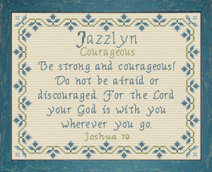 Name Blessings - Jazzlyn | Crafting | Cross-Stitch | Religious