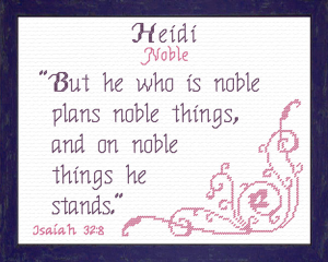 Name Blessings - Heidi 2 | Crafting | Cross-Stitch | Other