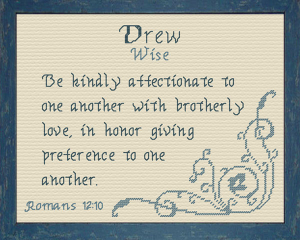 Name Blessings - Drew | Crafting | Cross-Stitch | Other