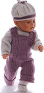 DollKnittingPatterns 0173D AMANDA - Genser, overall, lue og sko-(Norsk)   Crafting   Knitting   Other