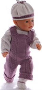 dollknittingpatterns 0173d amanda - pull, salopette, chapeau et chaussures -(francais)
