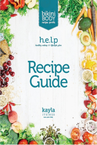 kayla itsines: recipe guide