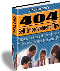 404 self improvement tips by bob bastian