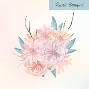Rustic Vector Bouquet Watercolor Floral Pastel Flower Bohemian Design Element Clip Art