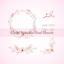 6 Pastel Watercolor Floral Elements, Pastel wreath, floral bouquets, floral text divider, Watercolor floral elements set, Floral Clip art | Other Files | Graphics