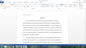 OL125 Journal Entry | Documents and Forms | Research Papers