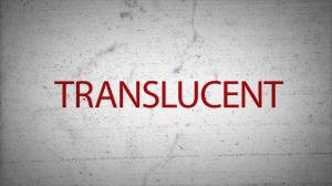 translucent poster