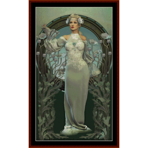 victorian beauty - fantasy cross stitch pattern by cross stitch collectibles