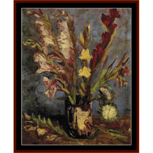 Vase with Gladioli - Van Gogh cross stitch pattern by Cross Stitch Collectibles | Crafting | Cross-Stitch | Wall Hangings