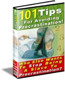 101 tips for avoiding procrastination by roger hoover