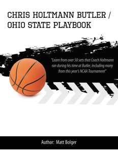 chris holtmann butler / ohio state playbook