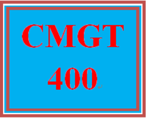 cmgt 400 entire course
