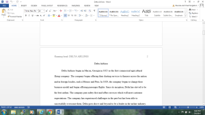 Delta Airlines | Documents and Forms | Research Papers