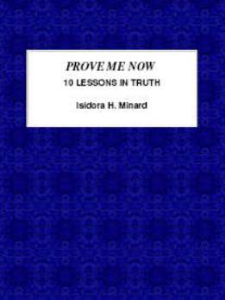 prove me now: ten lessons in truth by isidora h. minard