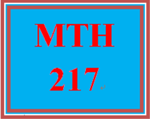 mth 217 week 1 course introduction worksheet
