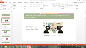 creative problem-solving and decision-making skills action plan