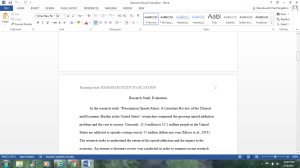 Research Study Evaluation | Documents and Forms | Research Papers