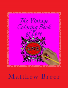 the vintage coloring book of love