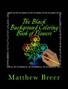 the black background coloring book of flowers pdf