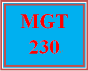 mgt 230 week 1 the manager's role in the workplace