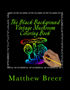the black background vintage mushroom coloring book pdf