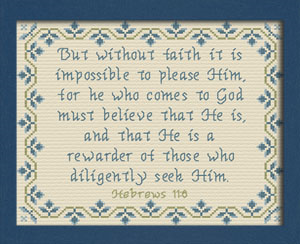 Diligently Seek Him | Crafting | Cross-Stitch | Other