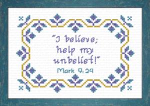 I Believe | Crafting | Cross-Stitch | Religious